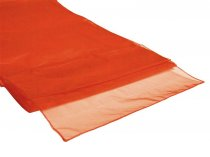 Organza Table Runner Burnt Orange