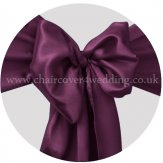 Plum/Eggplant Satin Sashes