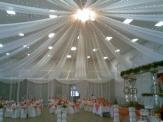 12 panels-10 meter lenght x 1.4 meter wide Silk Drapes Ceiling Draping Kit
