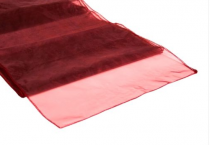 Organza Table Runner Claret-Wine Red