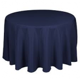 "120"" Round Table Cloth Polyester Navy"
