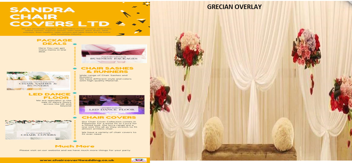Why Choose SandraChairCovers For Your Event Decor Products