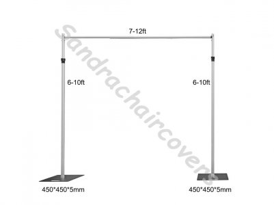 Telescopic 3M HIGHx 3.65M WIDE Backdrop stand, Pipe and Drape system -(10FT X 12FT)