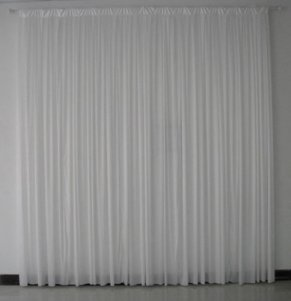 3M x 5M White Pleated Backdrop Curtain