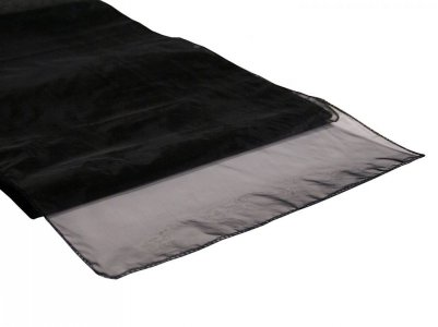 Organza Table Runner Black