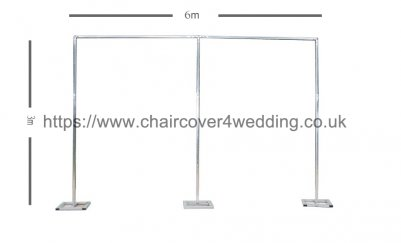 Economy Telescopic Wedding Backdrop Stands for Sale (6Mx3M) Design 2