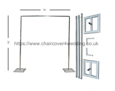 Economy Telescopic Wedding Backdrop Stands for Sale 3M X 3M- Design 2