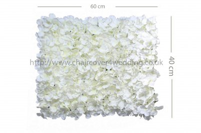 Wedding Flower Wall Backdrop Panels for Sale 60cmx40cm-White
