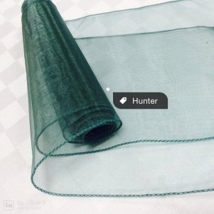 Organza sash Hunter Green