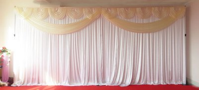 Ivory Butterfly Backdrop with Stand