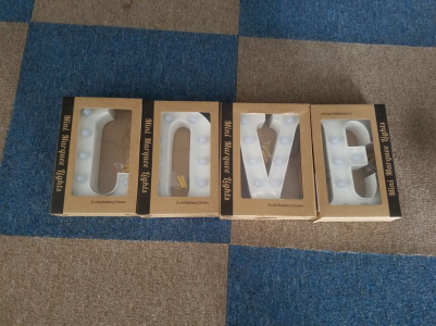 MINI LOVE Light Up Letters (20cm)-White