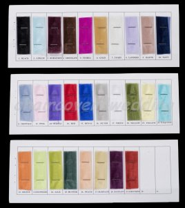 Chair Cover Organza Sashes Colour Chart Sample Book
