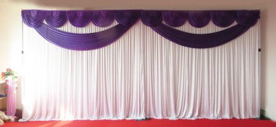 Purple Butterfly Backdrop with Stand