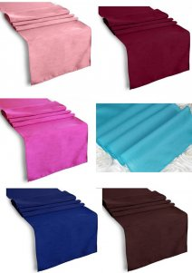 "Polyester Table Runner In Various New Colours - (12x108"" )"