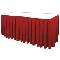 8M Red Table Skirt
