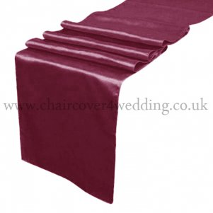Claret/Burgundy Satin Runner