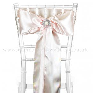 Blush Satin Sashes