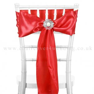 Coral Satin Sashes