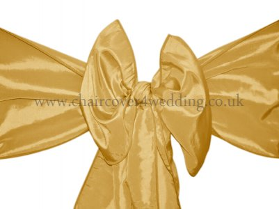 Gold-Bright Gold Taffeta Sashes