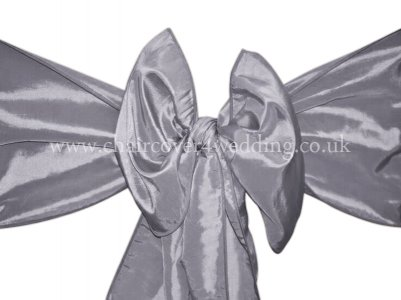Light Silver Taffeta Sashes