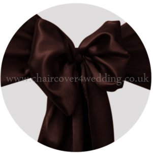Chocolate Satin Sashes