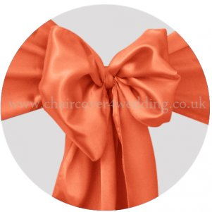 Orange Satin Sashes