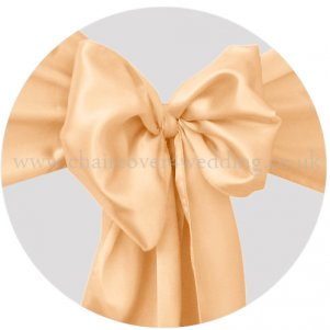 Peach Satin Sashes