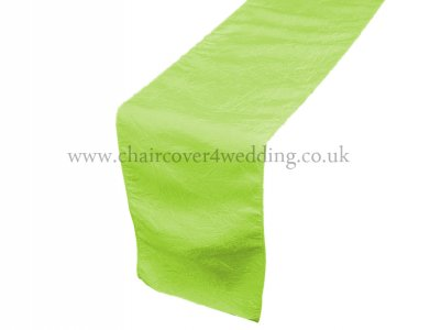Apple Green Taffeta Table Runner