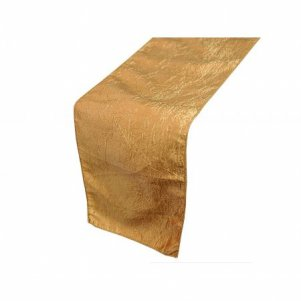 Gold (Dark Gold) Taffeta Table Runner