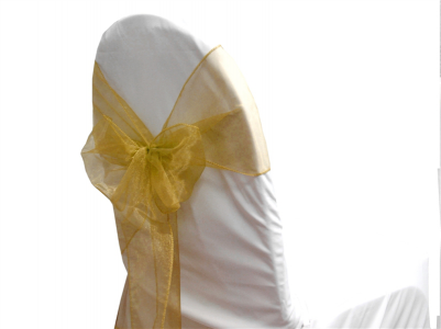 Organza sash Gold -Soft Feel sash