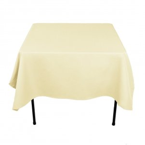 "54""  x 54"" Sqaure Table Cloths Ivory"