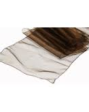 Organza Table Runner Mocca