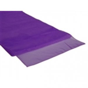 Organza Table Runner Purple