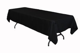 "70""  x 108 Rectangular Table Cloths Black"