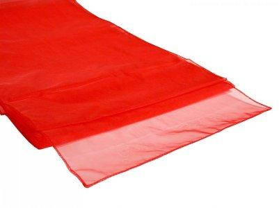 Organza Table Runner Red