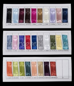 Chair Cover Satin Sashes Colour Chart Sample Book