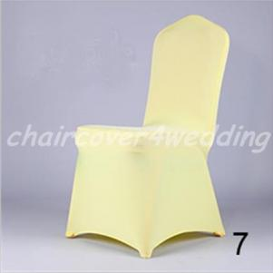 Lycra Spandex Covers Deep Cream Flat Premium