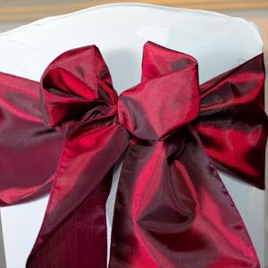 Burgundy Taffeta Sashes