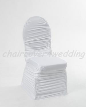 Ruched Chair Covers Without Diamante Buckle White