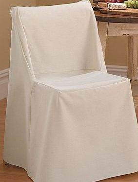 Folding Top Chair Covers Flat Top White