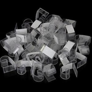 50pcs Plastic Hook and Loop Table Skirt Skirting Clips 3-4.5cm Wedding