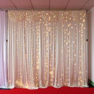6mx3m Warm White LED Curtain Lights For Wedding Backdrops