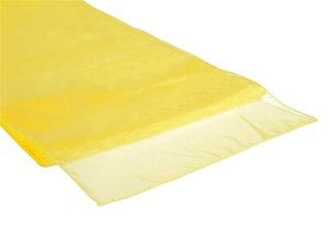 Organza Table Runner Bright Canary Yellow
