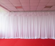 Silk Backdrop Curtain White (3m x 3m)  WITH STAND