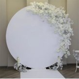 White Round Acrylic Backdrop for Wedding/Parties
