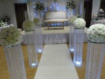 CRYSTAL AISLE STAND WITH STAND-120CM