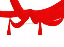 1.4m Wide x 10m Length Colorful Sheer Ice Silk Ceiling Drape Fabric -Red