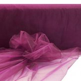 "Eggplant Organza Fabric 58""/60"" Wide - 100 yards"