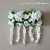 20cm*50cm Artificial Floral Silk Rose Arch Runner with Wisteria