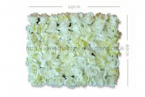 Wedding Flower Wall Backdrop Panels for Sale 60cmx40cm-Ivory